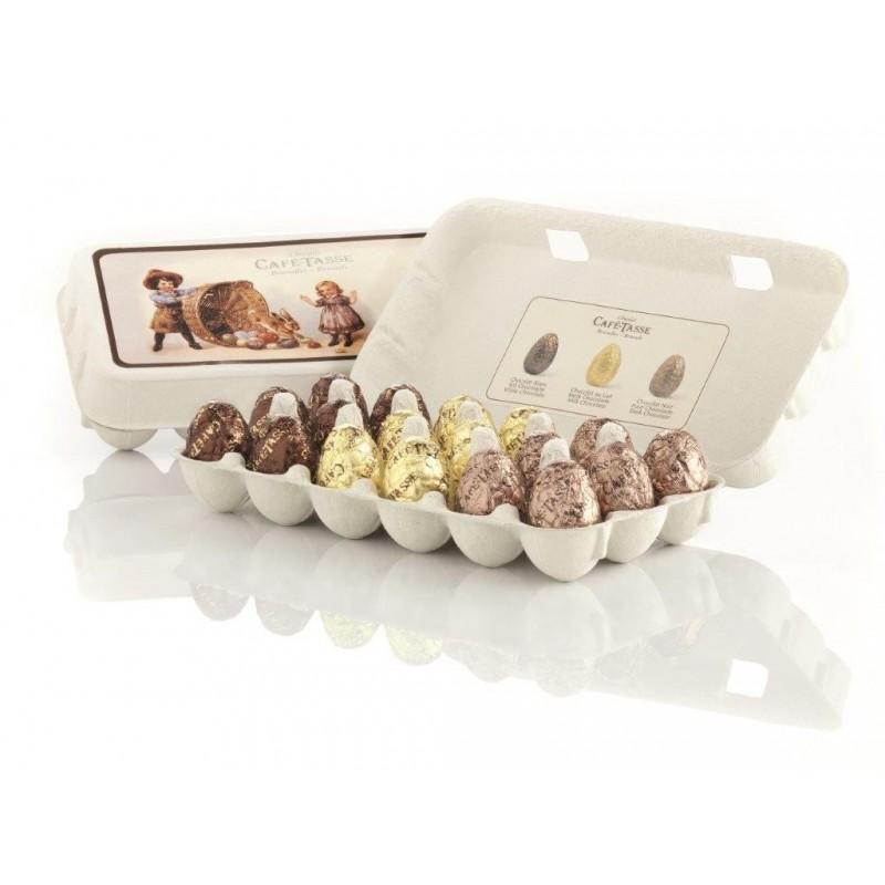 Puur chocolade-eieren, witte, pralinemelk