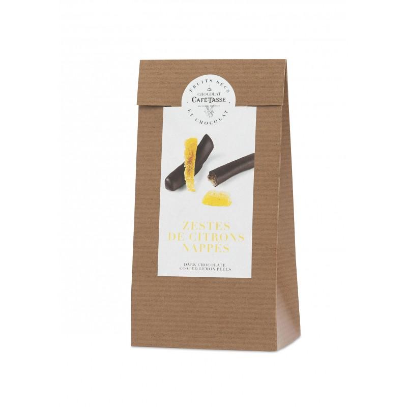 Candied lemon peels coated in Dark chocolate