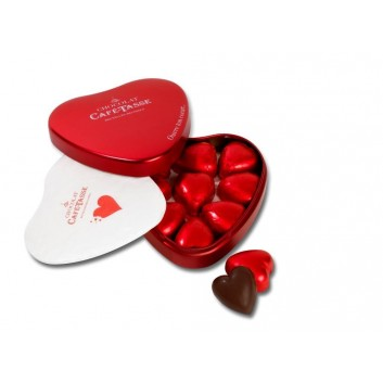 Red Heart tin with pralines