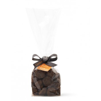 Transparent Bag with caramel truffles