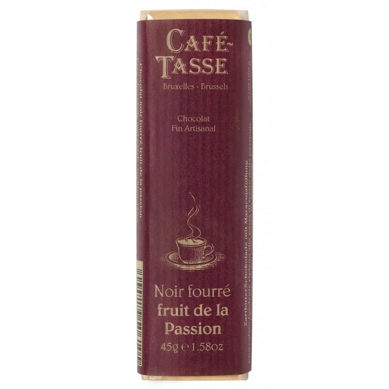 Pure chocolade reep gevuld met Passievrucht pasta