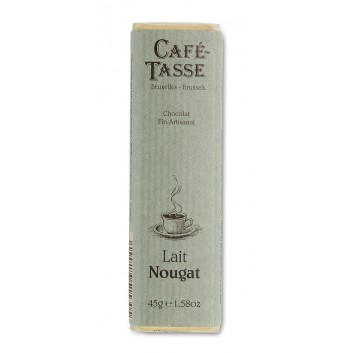 Barre de chocolat au Lait & morceaux de Nougat