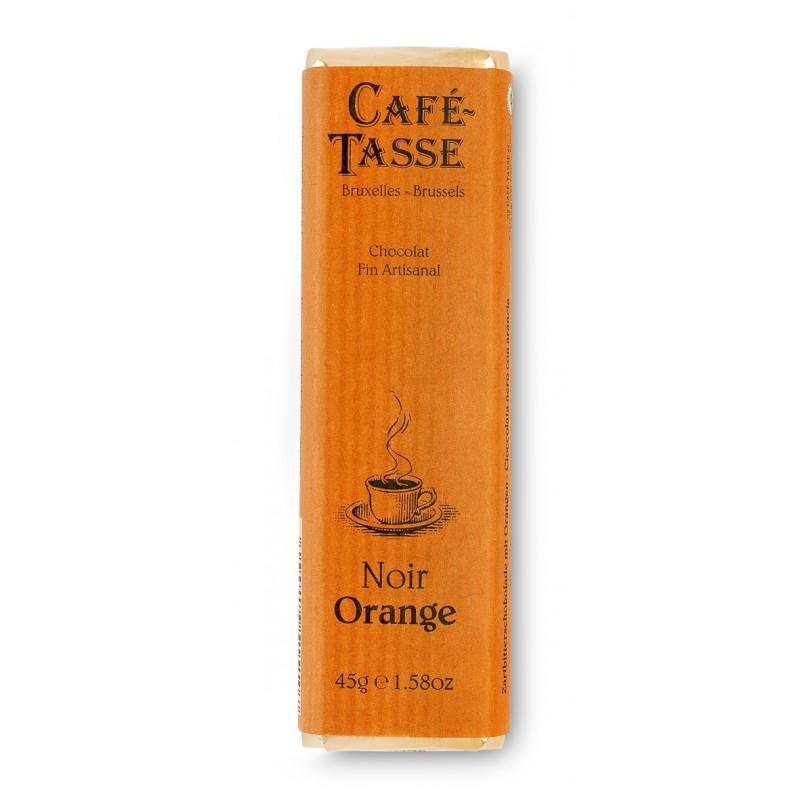 Pure chocolade reep met Sinaasappelschil