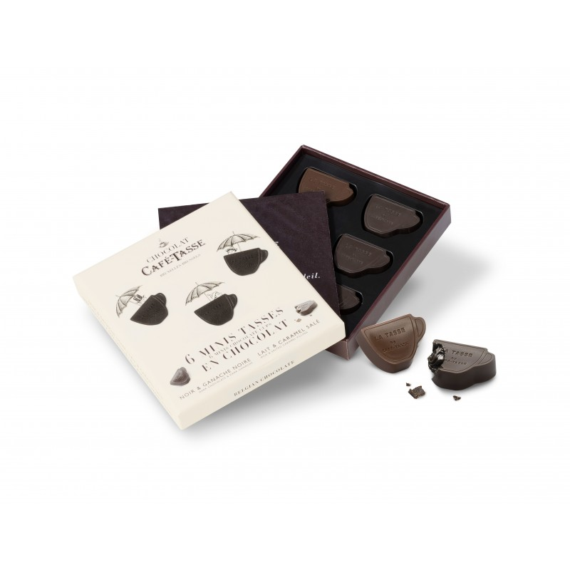 Chocolat noir ganache  & lait fourré ganache & caramel salé & Edition Noël