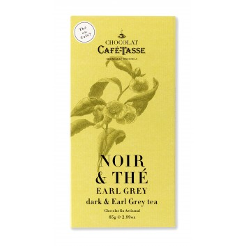 Puure chocolade tablet met  Earl Grey Tee poeder