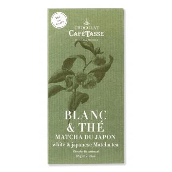 Witte chocolade tablet met Matcha tee