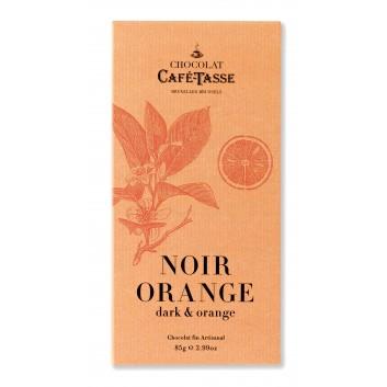 Pure chocolade tablet met sinaasappel