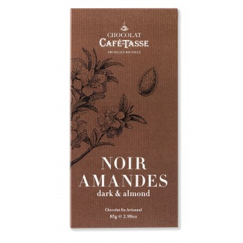 Tablette de chocolat noir et amandes