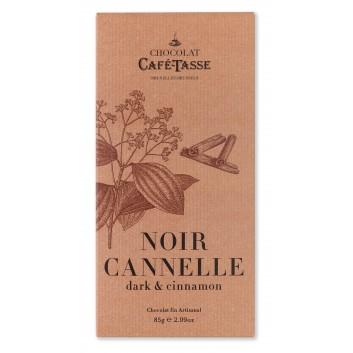 Tablette de chocolat noir  et cannelle