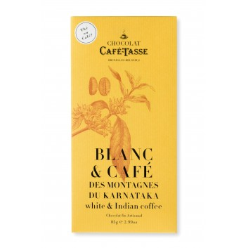 Tablette de chocolat Blanc et café