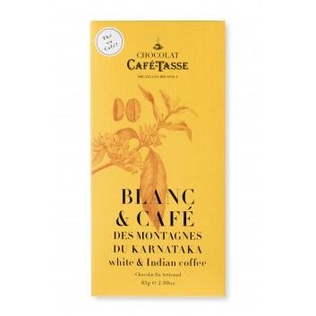 Witte chocolade tablet met  koffie van India