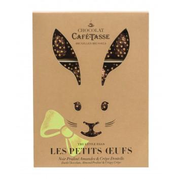 Boîte lapin Oeufs en chocolat Noir & Crêpes dentelles