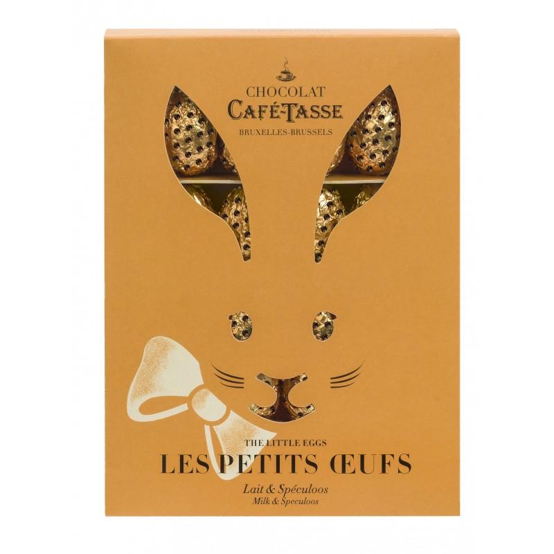 Boîte lapin Oeufs en chocolat au Lait fourrage Spéculoos