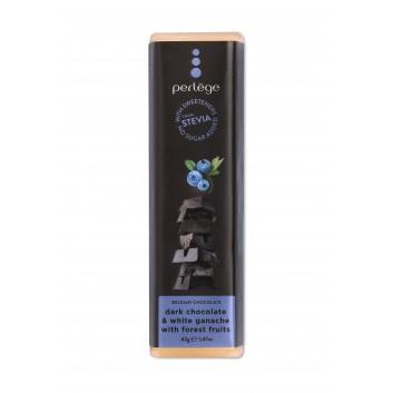 Perlège barre de chocolat noir & ganache  à la myrtille (stevia)