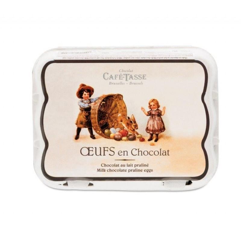 Oeufs en chocolat lait praliné