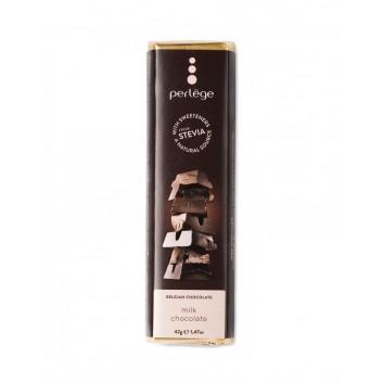Perlège milk chocolate bar (Stevia)