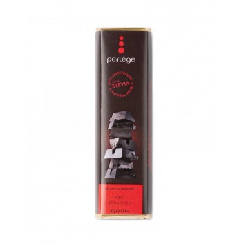 Perlège pure chocolade reep met stevia