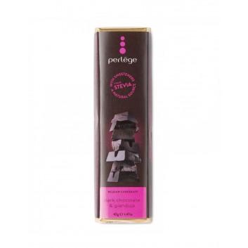 Perlège barre de chocolat noir & gianduja (Stevia)