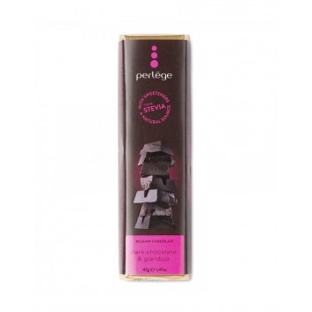 Perlège dark gianduja chocolate bar (Stevia)