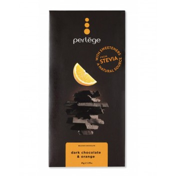 Tablette de chocolat noir & orange (Stevia)