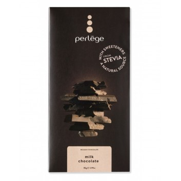 Perlège milk chocolate family bar with stevia