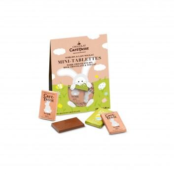 Pochette Pâques mini tablettes en chocolat assorties