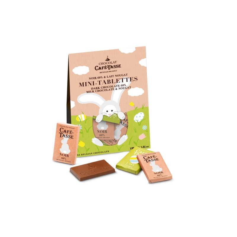 Easter Bag mini bars dark 60% & milk nougat