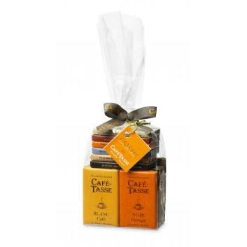 Crystal Bag with 20 assorted chocolate Mini Bars