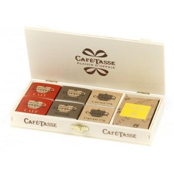 Houten doosje koffie crunch