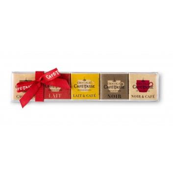 Réglette 15 carrés de chocolats assortis