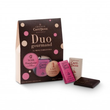 Duo Gourmand mini chocolate bars