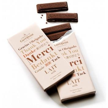 Melkchocolade tablet BEDANKT editie
