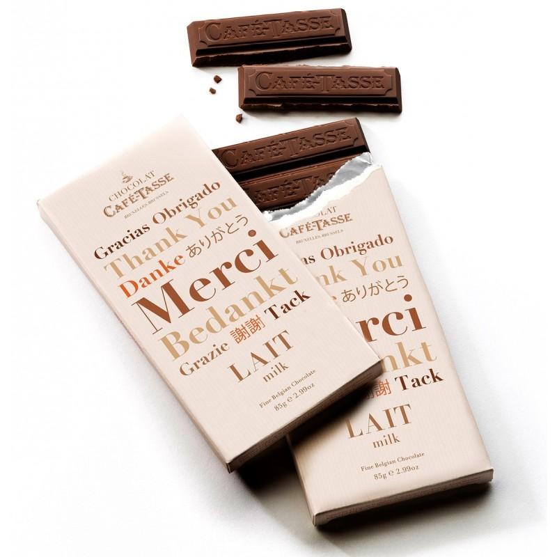 Tablette de chocolat au Lait edition MERCI