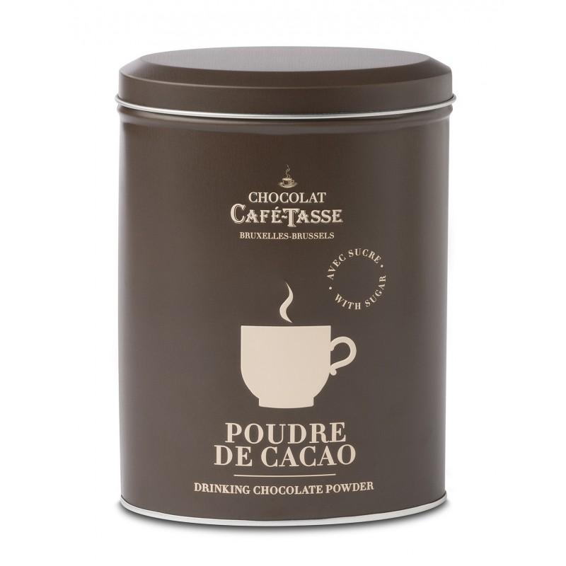 Blikken doos met Cacaopoeder