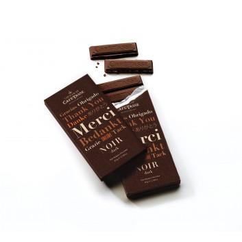 Tablette de chocolat noir 60% edition MERCI