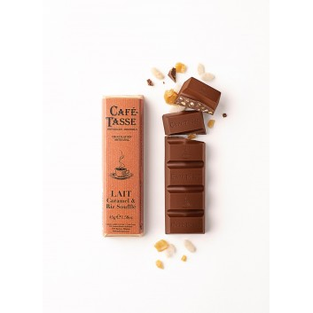 Barre de chocolat au Lait Caramel & Riz Soufflé