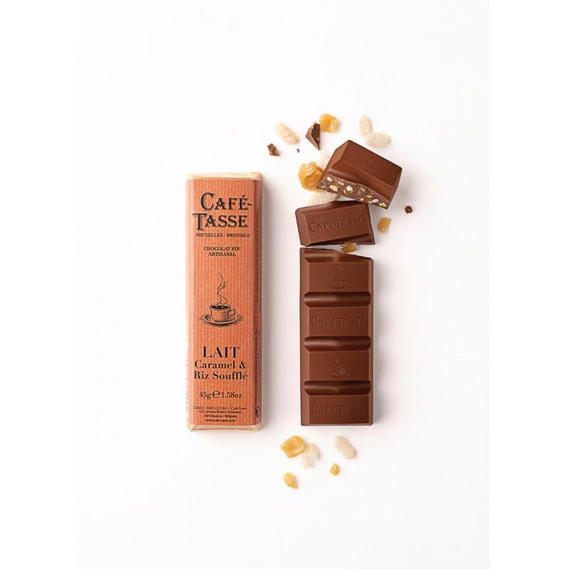 Milk chocolate bar, Caramel & Crispy Rice