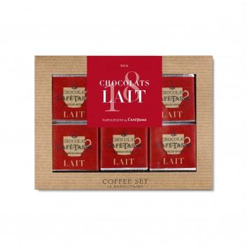 Micro koffie set melk chocolade