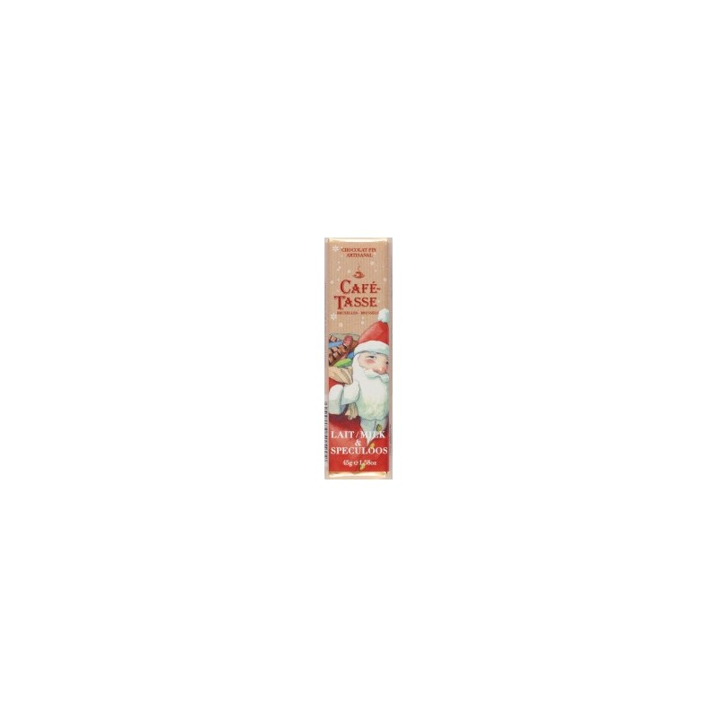 Barre de chocolat au Lait & Spéculoos - Edition Noël
