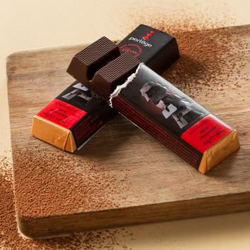 Perlège dark chocolate 85% family bar (Stevia)